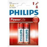 Фото Philips AA bat Alkaline 2шт PowerLife (LR6P2B/97)