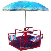 Фото DALI Карусель шестиместная с зонтиком (604/кр)