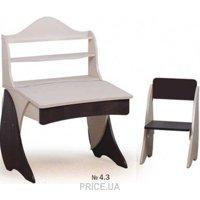 Фото Вальтер-Мебель Парта со стульчиком и надстройкой Умник
