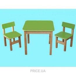 Фото Финекс Плюс Эко набор Стол деревянный и 2 стульчика