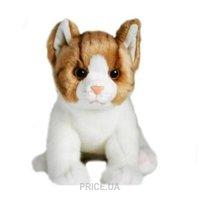 Фото Devik Toys Кот 28 см, коричневый/белый (JC-804BB)