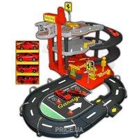 Фото Bburago Гараж Ferrari 3 уровня, 2 машинки (18-31204)