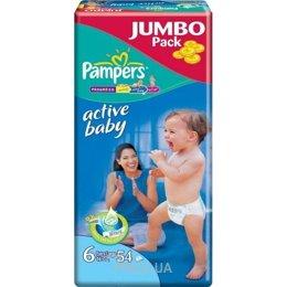 6c4f336b65e3 Pampers Active Baby Extra Large 6 (54 шт.). Цены в г. Днепропетровск ...