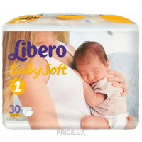 Фото Libero Baby Soft 1 Newborn 2-5 кг (30 шт.)