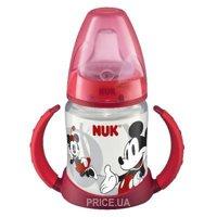 Фото Nuk Бутылочка First Choice Disney Miki (пластик), 150 мл, красная (10743498)