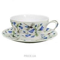Фото Dunoon Dovedale harebell чашка чайная с блюдцем 250мл (19012)
