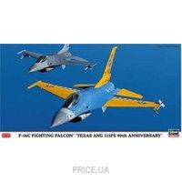 "Фото Hasegawa Истребитель F-16C Fighting Falcon ""Texas Ang 111FS 90th Anniversary"" (HA09811)"