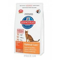 Фото Hill's Science Plan Feline Adult Optimal Care with Lamb 0,4 кг