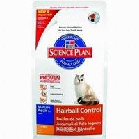 Фото Hill's Science Plan Feline Mature Adult 7+ Hairball Control Chicken 1,5 кг