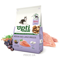 Фото OptiMeal Adult Medium and Large Breeds Chicken 3 кг