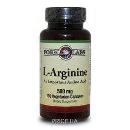 Form Labs L-Arginine 500 mg 100 caps