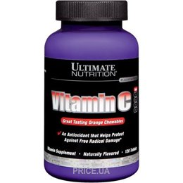 Фото Ultimate Nutrition Vitamin C 120 tabs