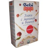 Фото Bebi Premium Каша молочная Злаки с малиной и вишней 200 г