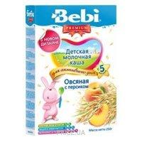 Фото Bebi Premium Каша молочная Овсяная с персиком 250 г