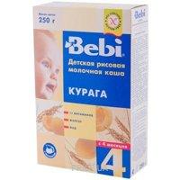 Фото Bebi Каша молочная рисовая с курагой 250 г
