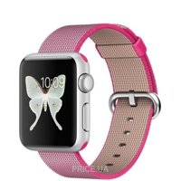 Фото Apple Watch Sport 38mm Silver Aluminum Case with Pink Woven Nylon (MMF32)