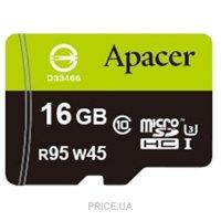 Сравнить цены на Apacer microSDHC UHS-I U3 16Gb + SD adapter (AP16GMCSH10U3-R)