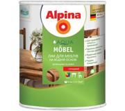 Цены на ALPINA Лак Alpina Aqua Mobel глянцевый 0.75 л Пред, фото