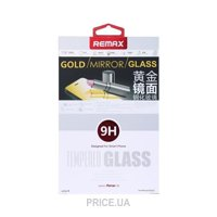 Фото Remax Tempered Glass Golden Mirror Apple iPhone 5S/5/5C 0.2mm