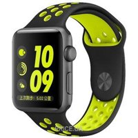Фото Coteetci W12 Nike Band Black/Volt (WH5216-BK-YL) for Apple Watch 38mm