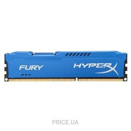 Фото Kingston 8GB DDR3 1600MHz HyperX FURY (HX316C10F/8)