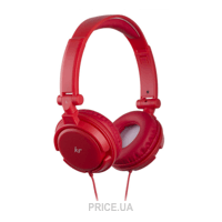 Фото KitSound iD Headphones with Microphone and Multi-function Button Red (KSIDRD)
