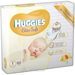 Фото Huggies Elite Soft 1 (82 шт.)