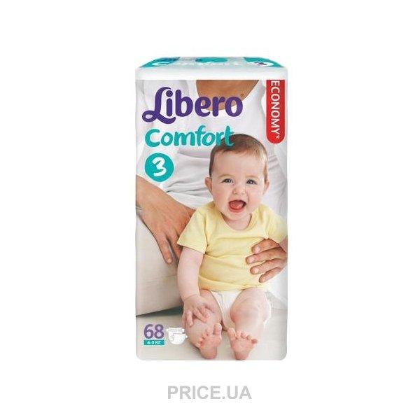 40a6b2486fb8 Libero Comfort 3 4-9 кг (68 шт.)  Купить в Украине - Сравнить цены ...