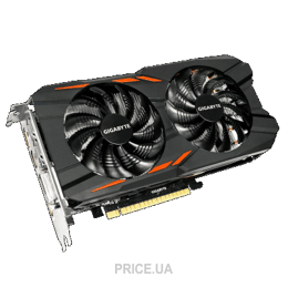 Видеокарту Видеокарта Gigabyte GeForce GTX 1050 Ti Windforce OC 4Gb (GV-N105TWF2OC-4GD)