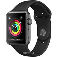 Фото Apple Watch Series 3 (GPS) 42mm Space Gray Aluminum w. Black Sport B. - Space Gray (MQL12)