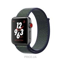 Фото Apple Watch Nike+ (GPS + Cellular) 42mm Space Gray Aluminium w. Midnight Nike Sport L. (MQMK2)