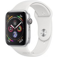 Фото Apple Watch Series 4 (GPS) 40mm Silver Aluminum Case with White Sport Band (MU642)