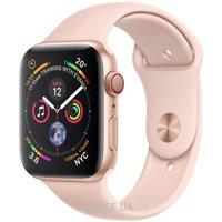 Фото Apple Watch Series 4 (GPS + Cellular) 40mm Gold Aluminum Case with Pink Sand Sport Band (MTUJ2)