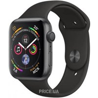 Фото Apple Watch Series 4 (GPS) 40mm Space Gray Aluminium Case with Black Sport Band (MU662)