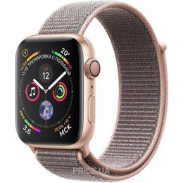 Apple Watch Series 4 (GPS) 44mm Gold Aluminium Case with Pink Sand Sport Loop (MU6G2)