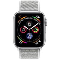 Фото Apple Watch Series 4 (GPS) 44mm Silver Aluminium Case with Seashell Sport Loop (MU6C2)