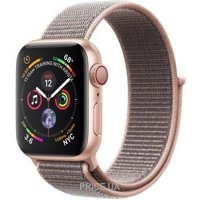 Фото Apple Watch Series 4 GPS + LTE 40mm Gold Alum. w. Pink Sand Sport l. Gold Alum. (MTUK2)
