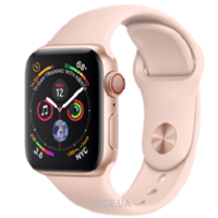 Фото Apple Watch Series 4 GPS + Cellular 40mm Gold Aluminum Case with Pink Sand Sport Band (MTVG2)