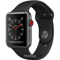 Фото Apple Watch Series 4 GPS + Cellular 40mm Space Gray Aluminum Case Black Sport Band (MTVD2)