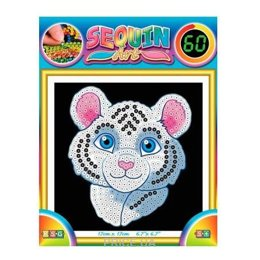 Sequin Art 60 White Tiger (SA1326)